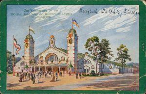 Ansichtskarte Leipzig 500-jähriges Jubiläum der Universität 1914