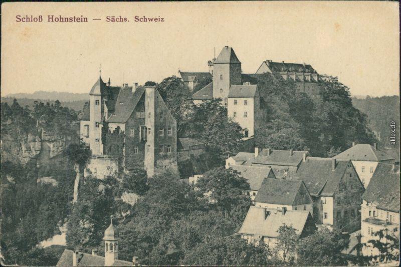 Hohnstein (Sächs. Schweiz) Burg Hohnstein (Sächsische Schweiz) 1914