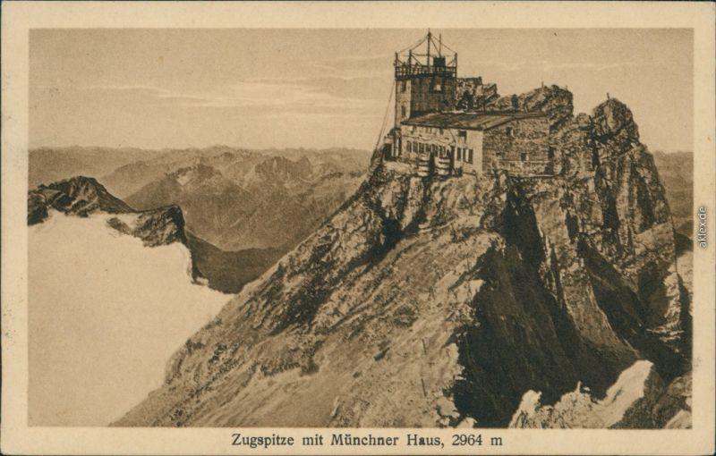 Ansichtskarte Grainau Münchner Haus (Zugspitze) 1913