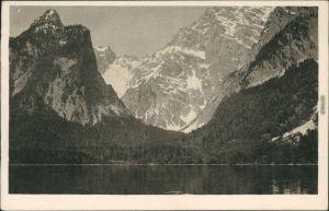 Schönau am Königssee Königssee - Blick auf die Eiskapelle 1929