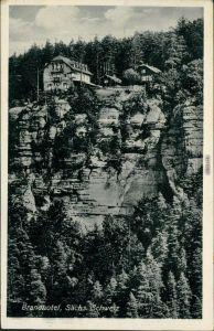 Ansichtskarte Hohnstein (Sächs. Schweiz) Brand-Hotel 1933