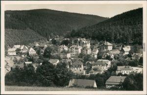 Ansichtskarte Schmiedeberg (Erzgebirge)-Dippoldiswalde Blick auf den Ort 1955