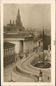 Ansichtskarte Wien Parlament und Rathaus 1934