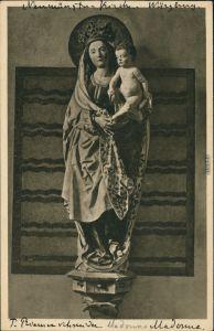 Ansichtskarte Würzburg Neumünster - Madonna-Figur 1928