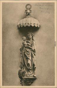 Ansichtskarte Würzburg Häuserschmuck - Madonna 1928