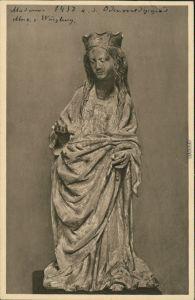Ansichtskarte Würzburg Mainfränkisches/Luitpold Museum - Madonna 1928
