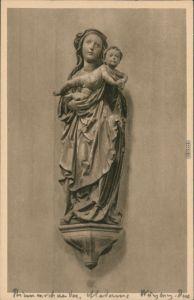 Ansichtskarte Würzburg Neumünster - Madonna 1928
