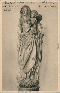 Ansichtskarte Würzburg Mainfränkisches/Luitpold Museum - Doppelmadonna 1928