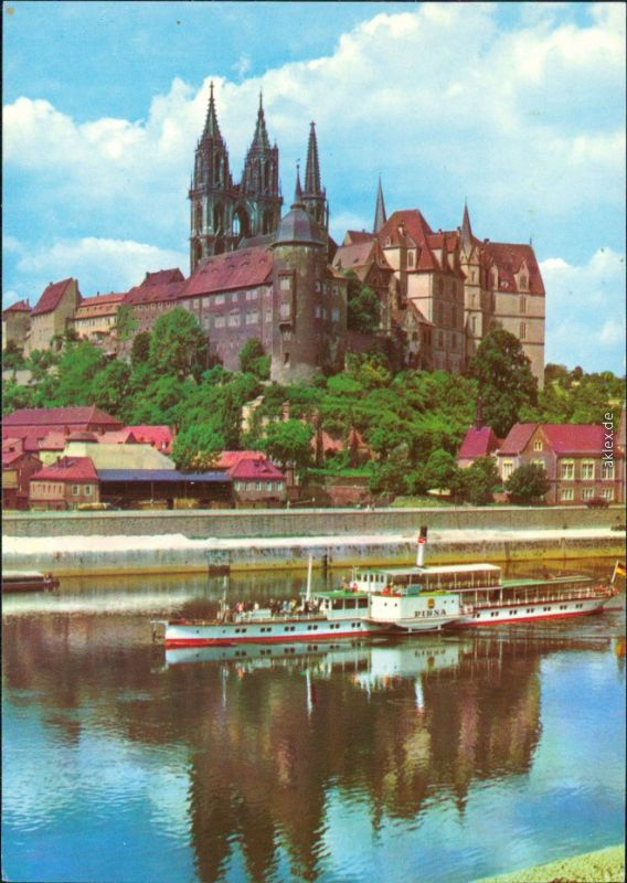 Ansichtskarte Meißen Albrechtsburg und Dom g1985