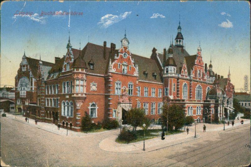 Ansichtskarte Leipzig Buchhändler-Börse 1917