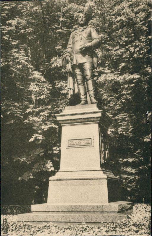 Heidelberg Scheffel-Denkmal auf Terrasse des Heidelberger Schlosses 1916