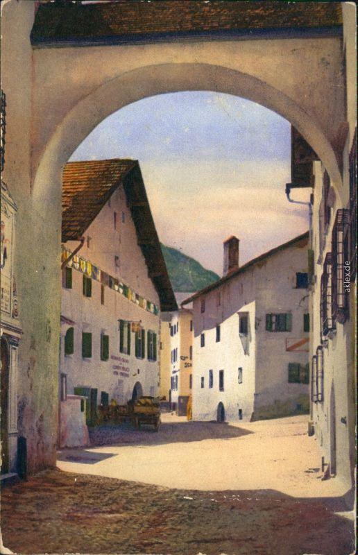 Ansichtskarte Zuoz Zutz | Zuz Alter Torbogen 1911