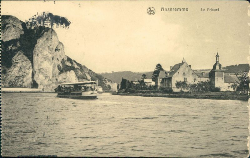 Ansichtskarte Anseremme-Dinant Ansreme Dinant Le Prieure - Dampfer 1915