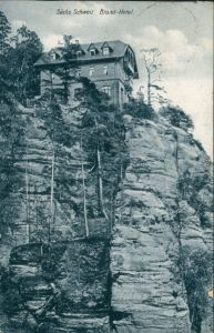 Ansichtskarte Hohnstein (Sächs. Schweiz) Brand-Hotel 1927