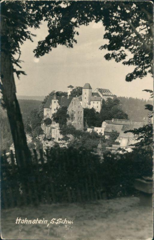 Ansichtskarte Hohnstein (Sächs. Schweiz) Burg Hohnstein 1957