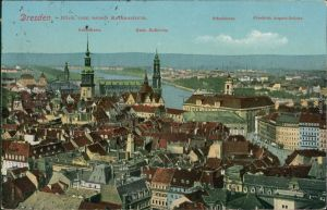 Ansichtskarte Innere Altstadt-Dresden Blick auf die Altstadt 1919