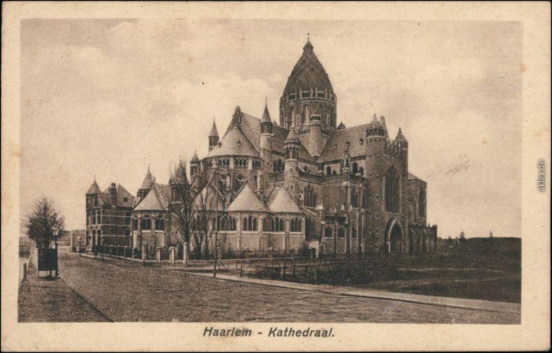 Ansichtskarte Haarlem Kathedrale 1927