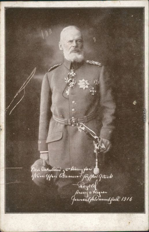Ansichtskarte  Soldaten-Porträts 1. Weltkrieg - Prinz Leopold von Bayern 1916