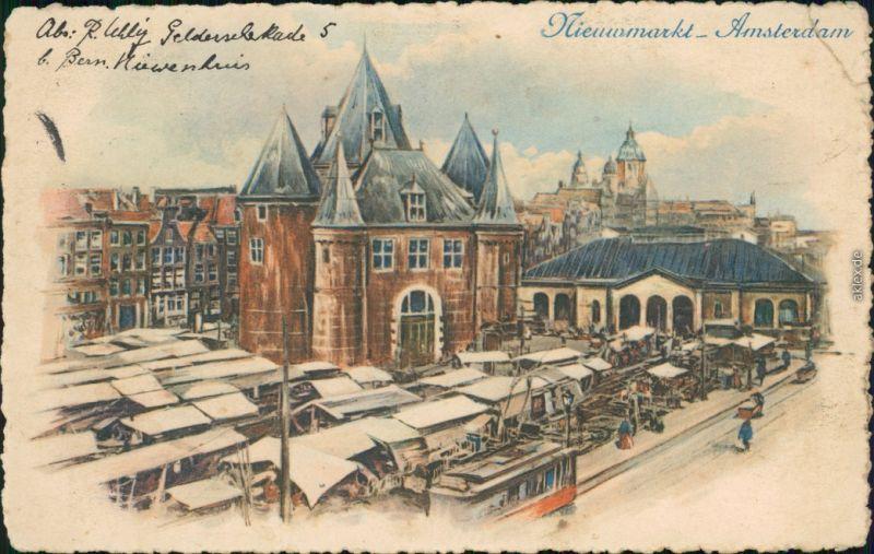 Ansichtskarte Amsterdam Amsterdam Nieuxmarkt 1906