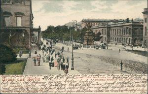 Mitte-Berlin Unter den Linden mit Denkmal Friedrich des Großen 1901