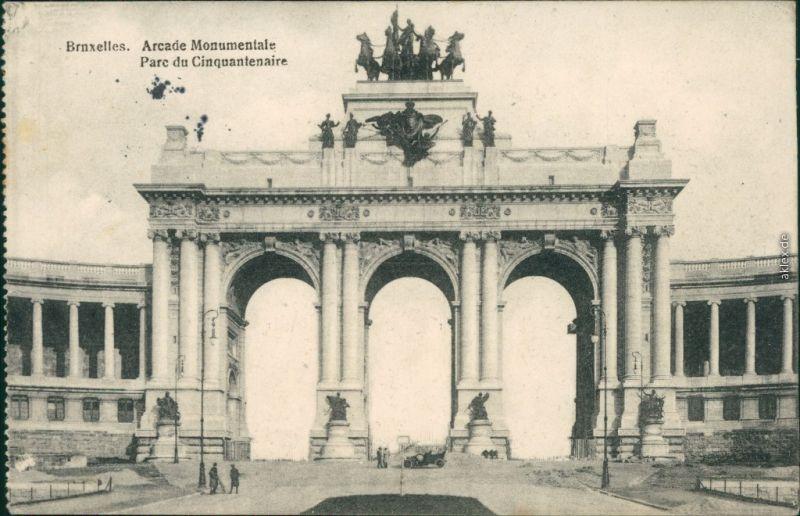 Etterbeek-Brüssel Bruxelles Jubelpark  Triumphbogen Parc du Cinquantenaire 1915