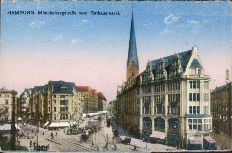 Hifi Hamburg Mönckebergstraße ansichtskarte altstadt hamburg mönckebergstraße vom rathausmarkt