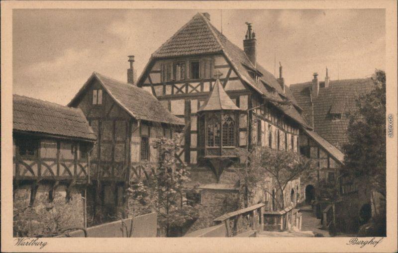 Ansichtskarte Eisenach Wartburg - Vorderer Burghof 1959
