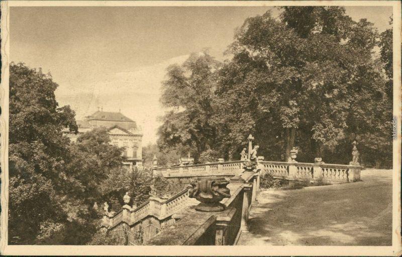 Ansichtskarte Würzburg Kgl. Hofgartenpartie 1929