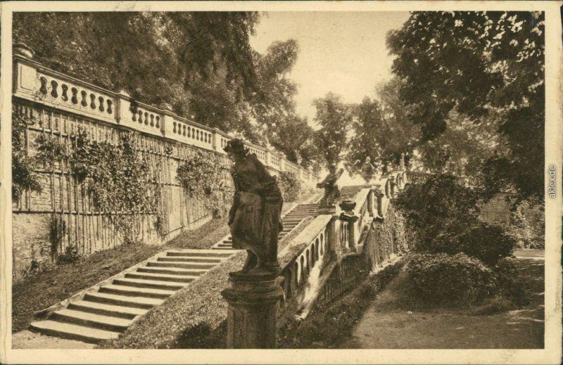 Ansichtskarte Würzburg Kgl. Hofgarten-Terrasse Statuen 1929