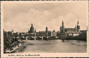 Ansichtskarte Innere Altstadt-Dresden Blick auf die Altstadt, Elbe 1933