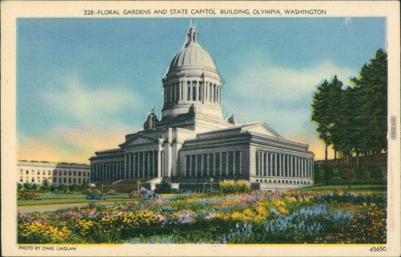 Ansichtskarte Washington D.C. United States Capitol mit Gartenanlage 1932