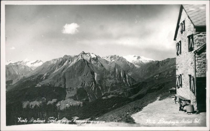 Kals am Großglockner Panorama-Ansicht mit Baude und Bergmassiv 1940