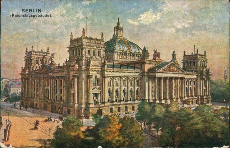 Ansichtskarte Berlin Künstlerkarte: Reichstag 1933