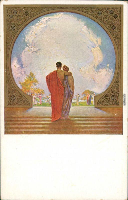 Künstlerkarte: Gemälde v. L. Fahrenkrog