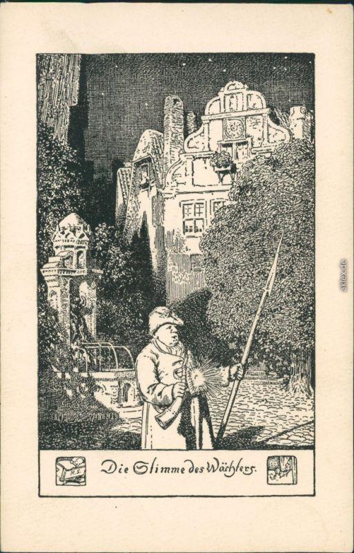 Ansichtskarte  Die Stimme des Wählers 1925