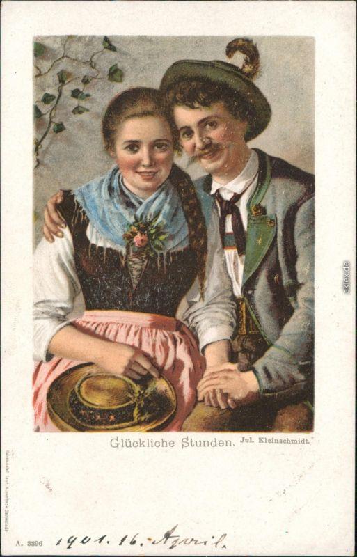 Künstlerkarte: Gemälde / Kunstwerke - - Glückliche Stunden 1916