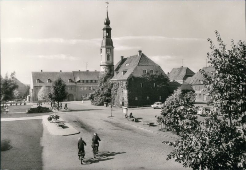 Särka-Weißenberg Wóspork August-Bebel-Straße mit Rathaus 1980