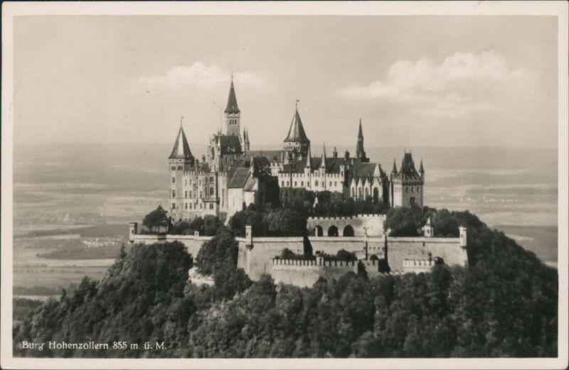 Ansichtskarte Bisingen Burg Hohenzollern 1936