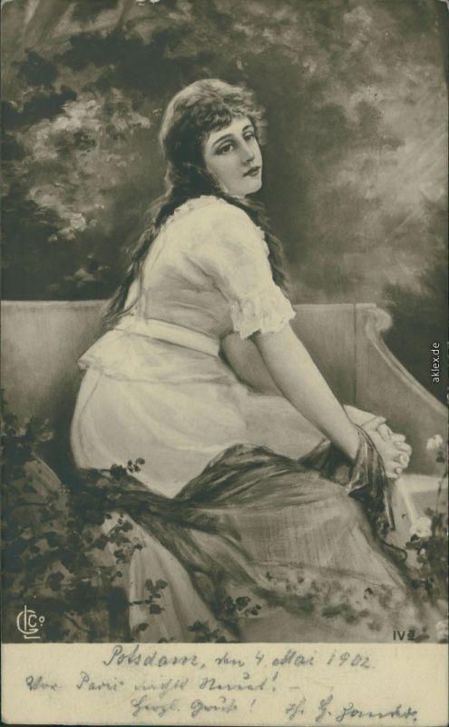 Menschen / Soziales Leben - Erotik (Nackt - Nude) - Frau wartet auf ... 1902