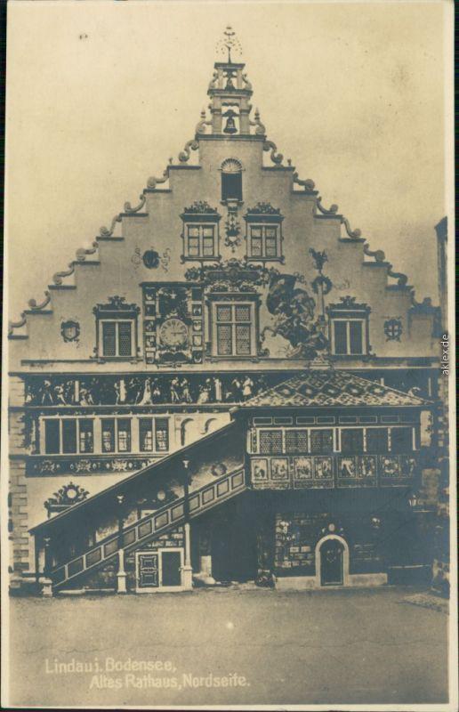 Ansichtskarte Lindau (Bodensee) Altes Rathaus - Nordseite 1924