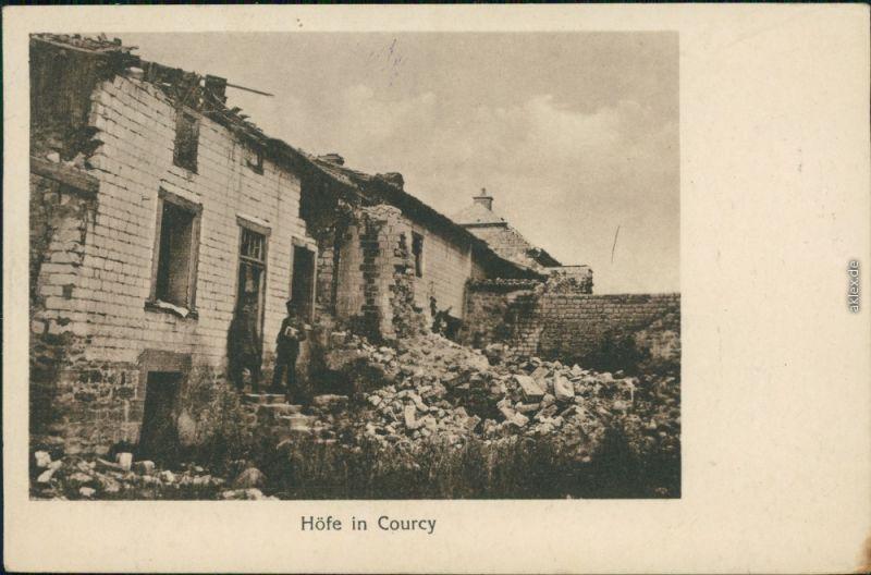 Courcy (Marne) Courcy (Marne) Ansichten 1. Weltkrieg - Höfe 1916