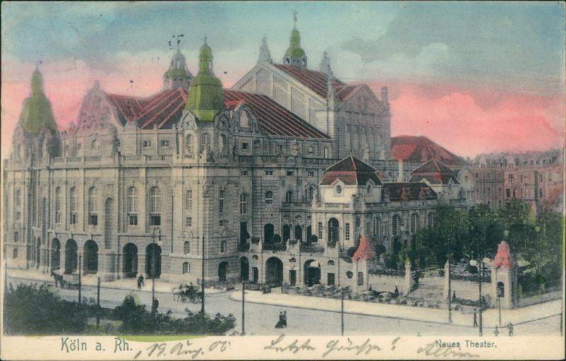 Ansichtskarte Köln Neues Stadttheater 1906