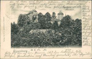 Ansichtskarte Elgersburg Schloss Elgersburg 1902