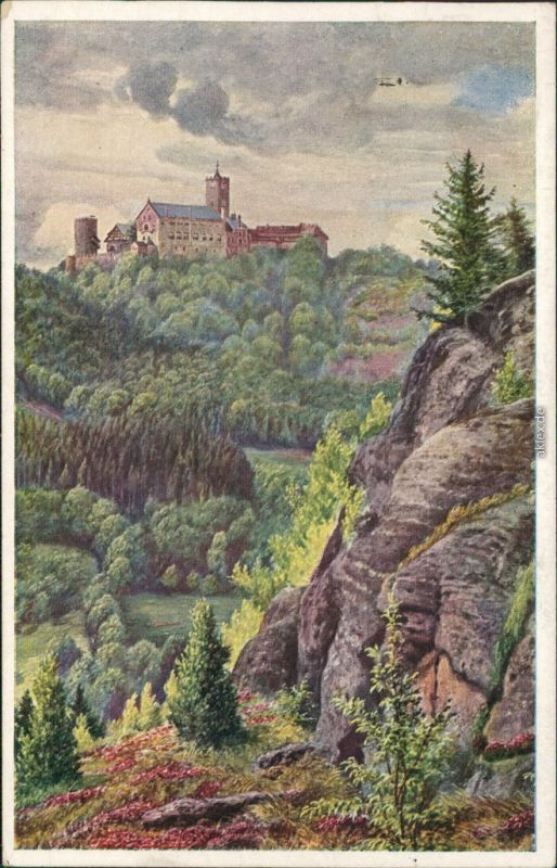 Eisenach Künstlerkarte: Gemälde v. K. Lindegreen