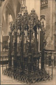 Ansichtskarte Nürnberg Sebaldusgrab - Kirche 1922