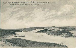 Grunewald-Berlin Grunewaldturm (Kaiser-Wilhelm-Turm)    Potsdamer Gegend 1903