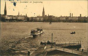 Ansichtskarte Altstadt-Hamburg Binnenalster mit Jungfernstieg 1910