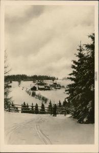Schellerhau-Altenberg (Erzgebirge) Blick auf den Ort im Winter 1955