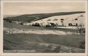 Schellerhau-Altenberg (Erzgebirge) Blick auf den Ort im Winter 1954