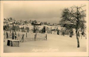 Schellerhau-Altenberg (Erzgebirge) Blick auf den Ort im Winter 1956